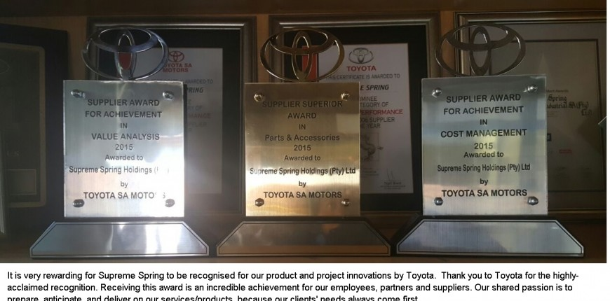 Toyota Supplier Awards 2016 article altrnative text